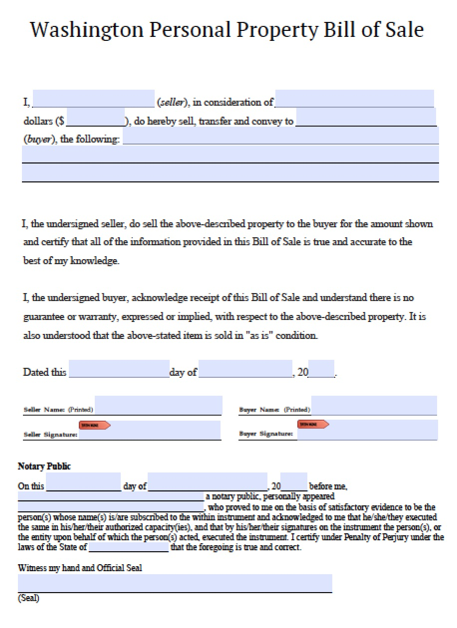 utah state bill of sale