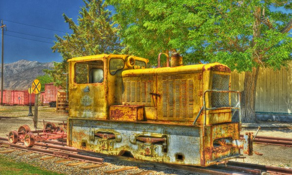 Old diesel Switcher at Laws Railroad Museum
