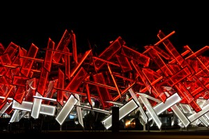 London – Olympic park after dark