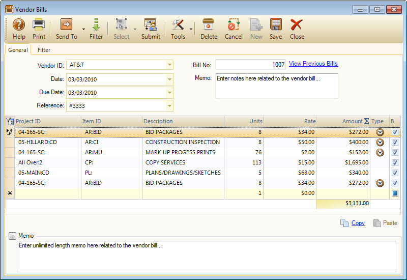 User Tip - Manage Your Vendor Bills - BQE Blog Integrated Business