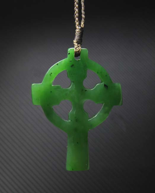 Wewood Watch Solid Nephrite Jade Cross Necklace Pendant