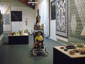 Tra le creazioni d'artigianato esposte a Tessingiu 49° Mostra dell'Artigianato Sardo.