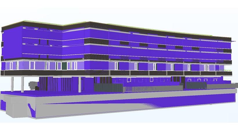 """Poilsio pastato """"Eglė"""" Palangoje naujos statybos projektas, UAB Prosfera, OpenBIM Awards 2016, BIM Forum Vilnius 2016"""