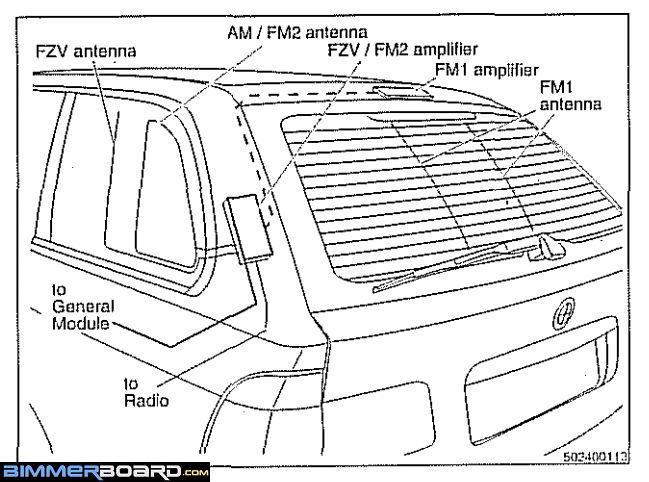 Which wire for radio tuner amplifier? - Bimmerfest - BMW Forums