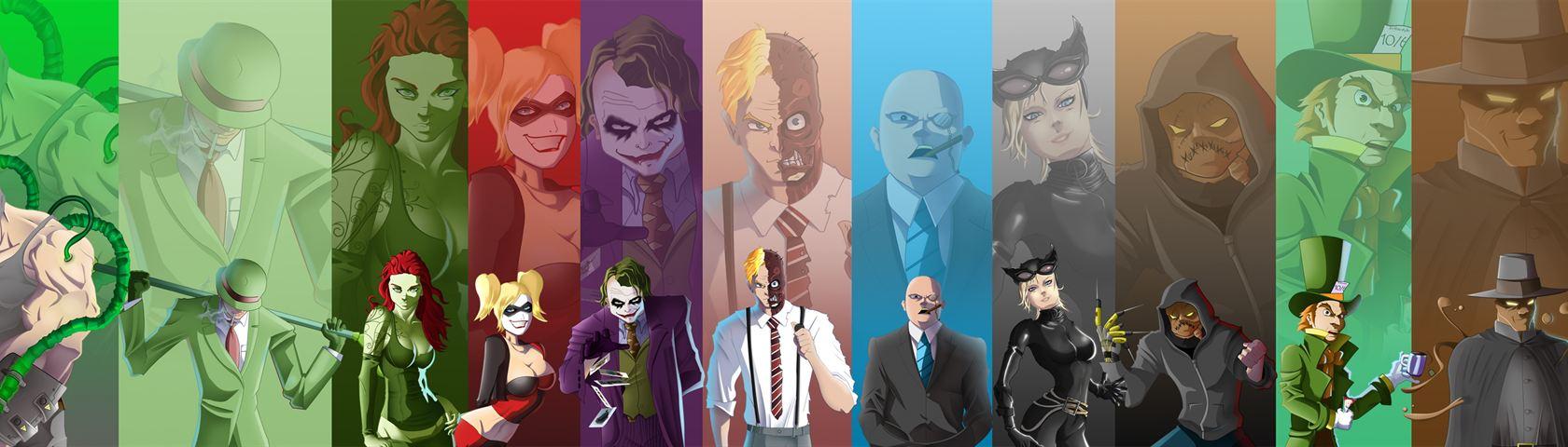 Animated Dual Screen Wallpaper Batman Villains Images Wallpaperfusion By Binary