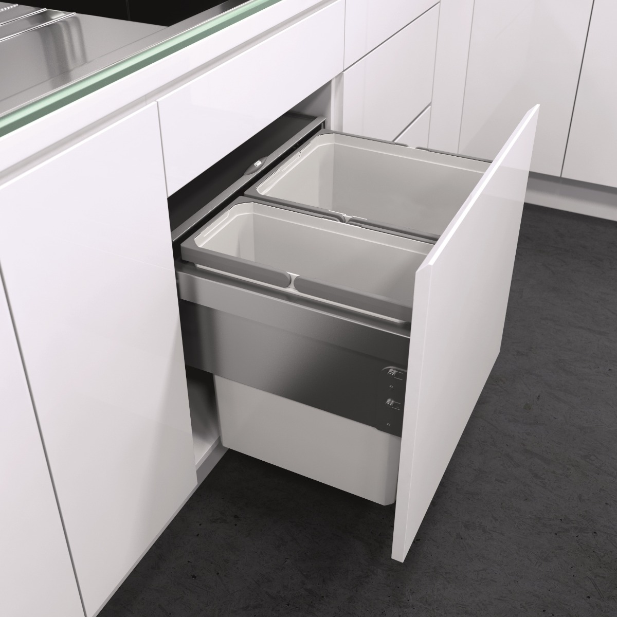 Kitchen Cupboard Doors 500mm X 570mm The Best Built In Bins And Recyclers For Kitchen Cupboards Binopolis