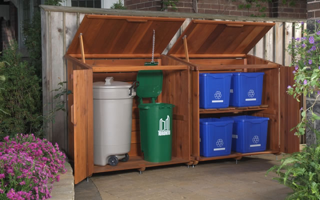 Recycling And Garbage Bin Storage Nuvo Garage