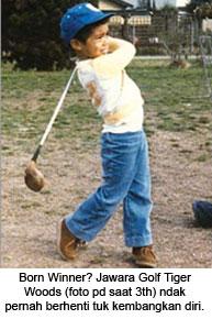 Tiger Woods 3 tahun
