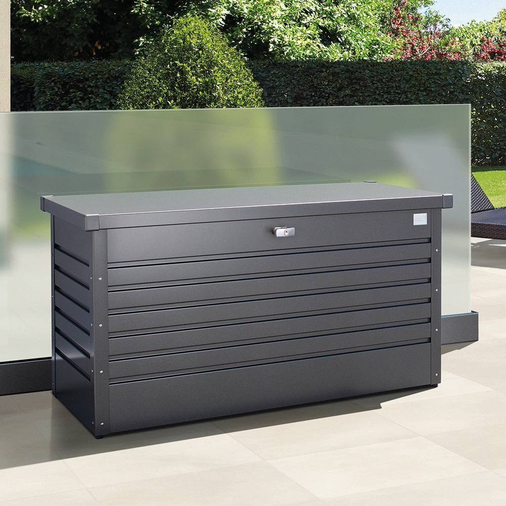 Gartentruhe Metall Leisuretime Box 130 Metallic Dark Grey
