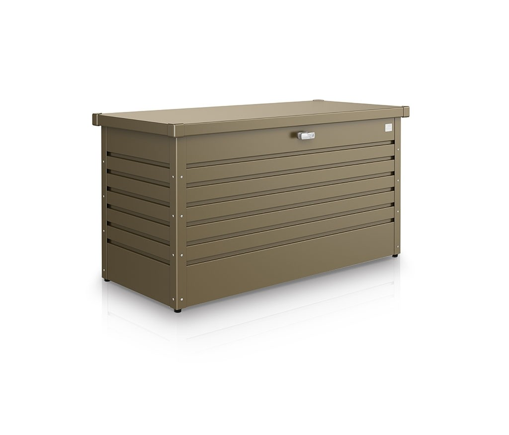 Gartenschrank Wetterfest Leisuretime Box 130 Metallic Quartz Grey