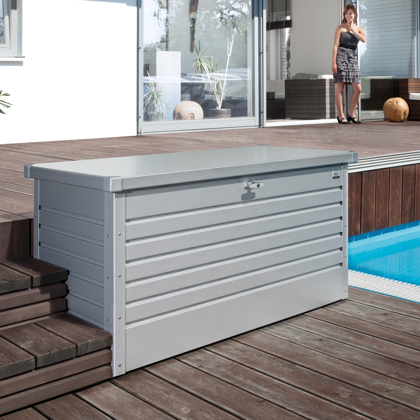 Gartenschrank Wetterfest Leisuretime Box 130 White