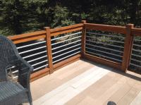 Horizontal Conduit Deck Railing  Decks Ideas