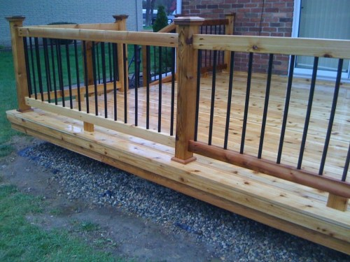 Medium Of Metal Deck Railing