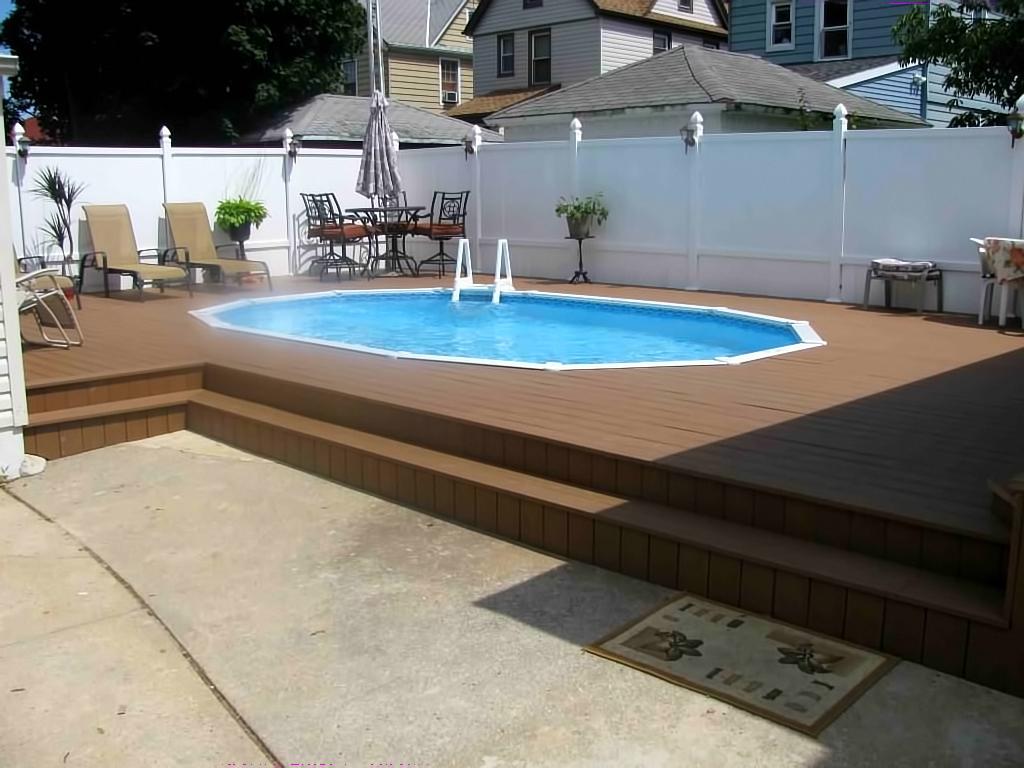 Dashing Deck Swimming Installs Inground Inside X Semi Inground Semi Inground Deck Decks Ideas Semi Inground S Cost Semi Inground S Long Island houzz-02 Semi Inground Pools