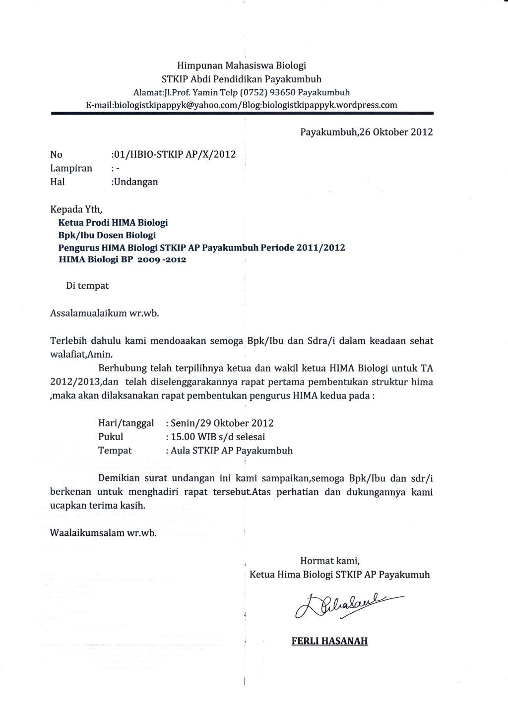 Surat Undangan Rapat Pembentukan Panitia Ldks