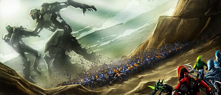 Dark Knight Falls Wallpaper Mata Nui Saga Biomedia Project