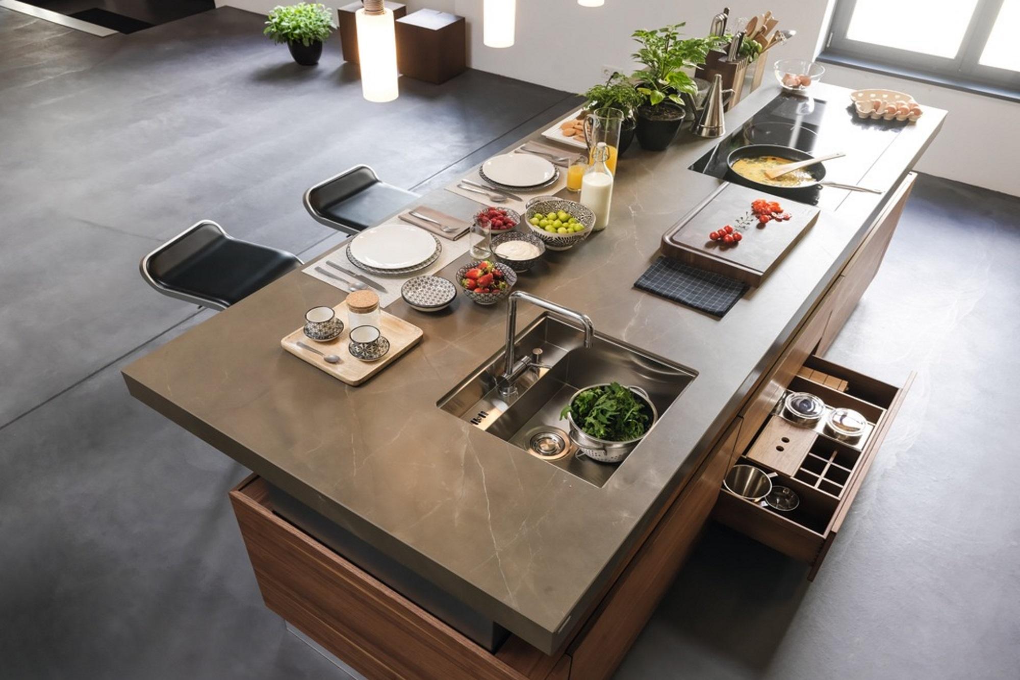 Kücheninsel Spüle Und Kochfeld