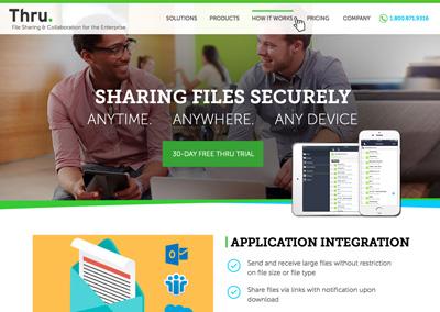 Thru Homepage Redesign