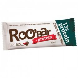 Roobar Proteín chia spirulina BIO RAW 60g