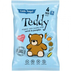 Snack kukuričný Teddy mrkva tekvica BIO 30g