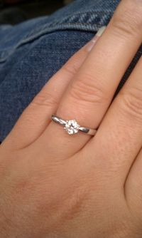 0.5 carat rings on size 7-9 fingers? Pics? - Weddingbee