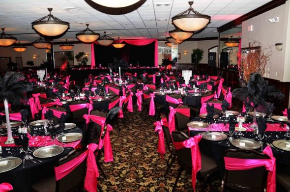 Pink Black And Silver Weddings Wedding Tips and Inspiration - pink black and white weddings