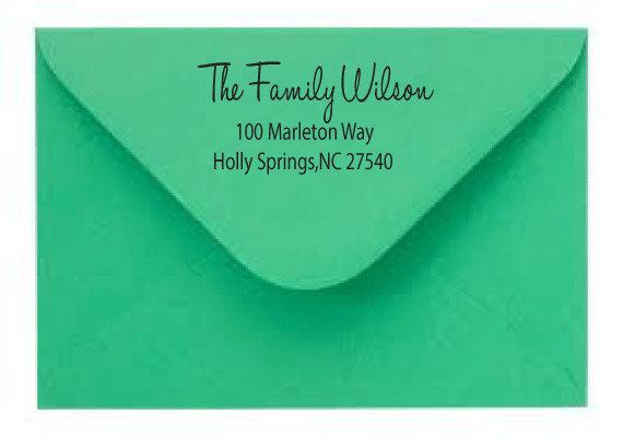 Can you use a return address stamp for RSVP - wedding rsvp envelope size