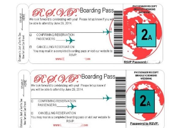 DIY boarding pass RSVP trials - boarding pass template