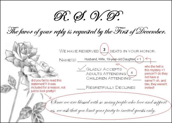 Need (wording) help addressing guests who rsvp\u0027d for extra people!