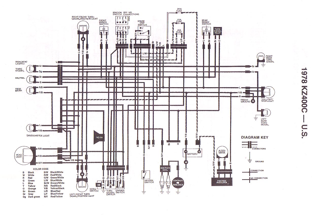 1978 1979 z400 b1 b2 wiring diagram european
