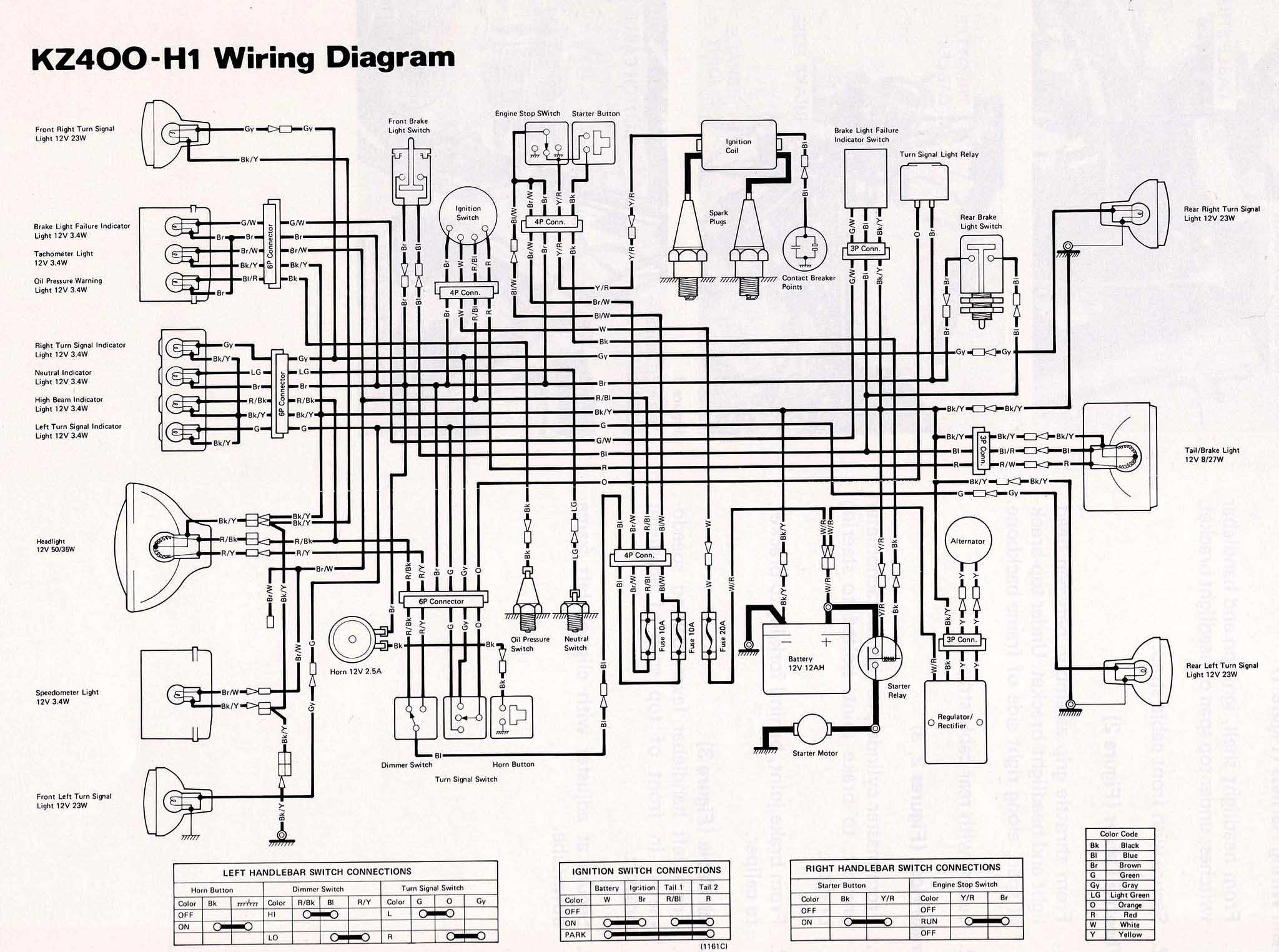 kz440 wiring diagram
