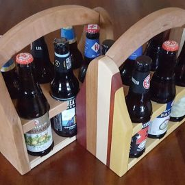 Beer Caddy - Cherry and Limited Edition Pattern