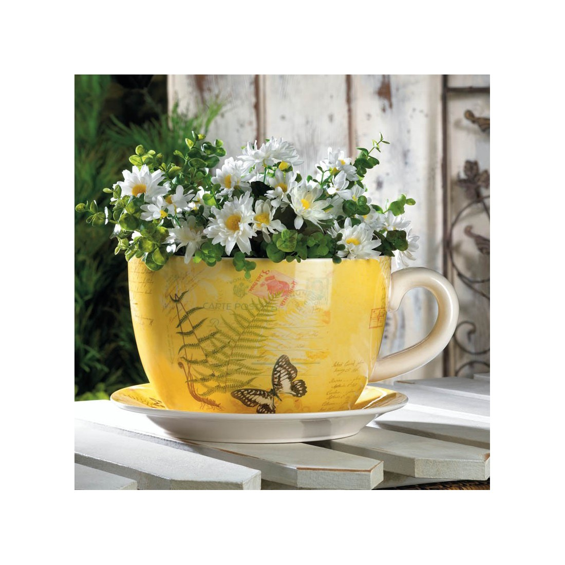 Large Tea Cup Planter 12 5