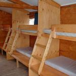 Bunk Beds inside the 6 sleeping cabins