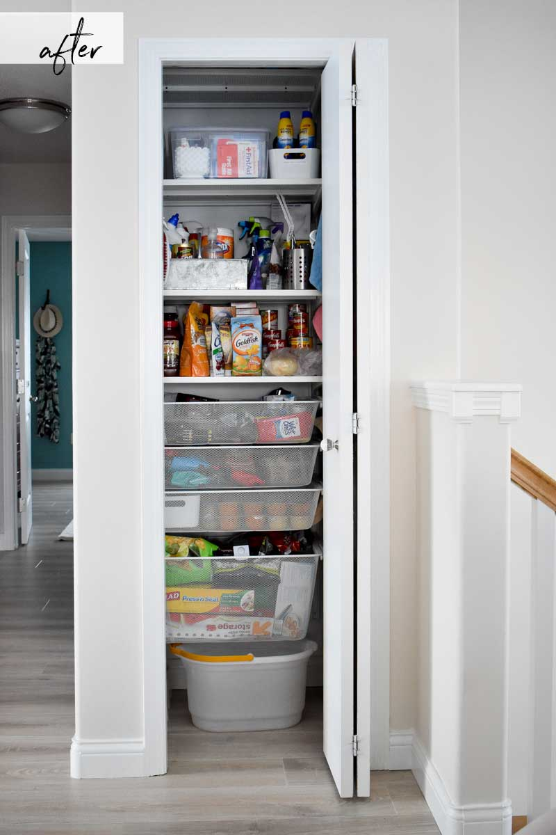 Closet Pantry How To Turn A Hall Closet Into An Organized Pantry Birchwood Dream