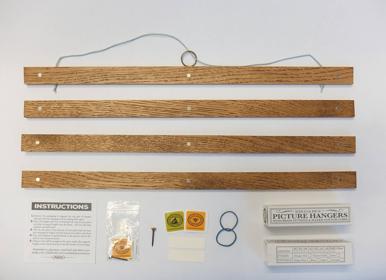 Picture Hangers Bespoke Picture Hangers From 6 To 48 Inches Birdandbee