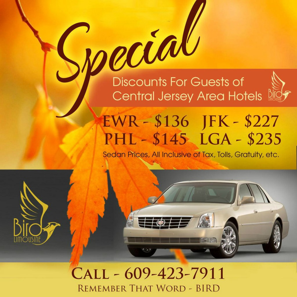Special Limo Rates for Central Jersey
