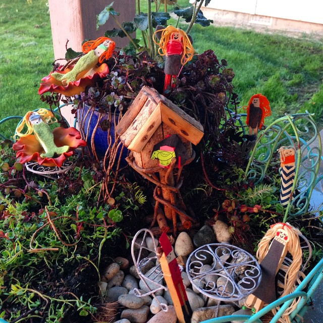 The girls and I started a #fairygarden today. They loved…