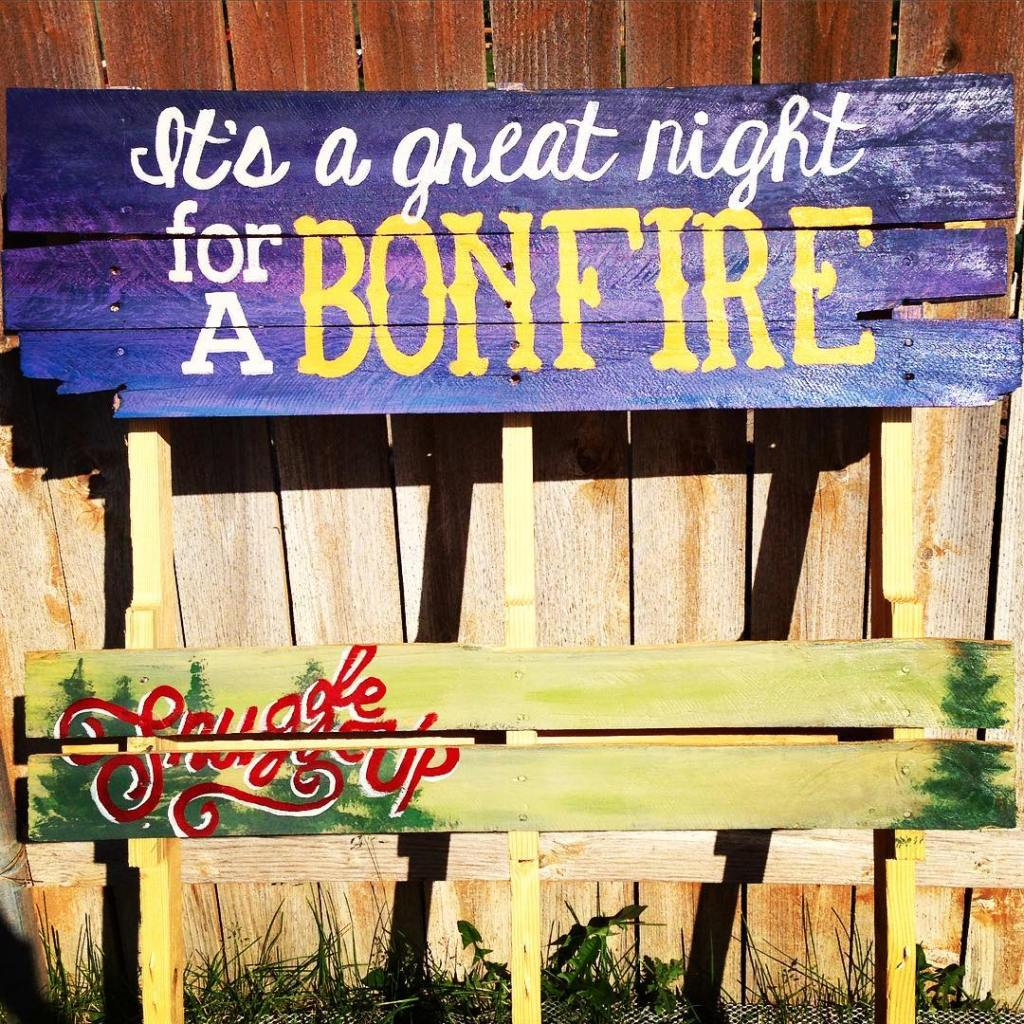 Bonfire sign finished! It even has a spot to hanghellip
