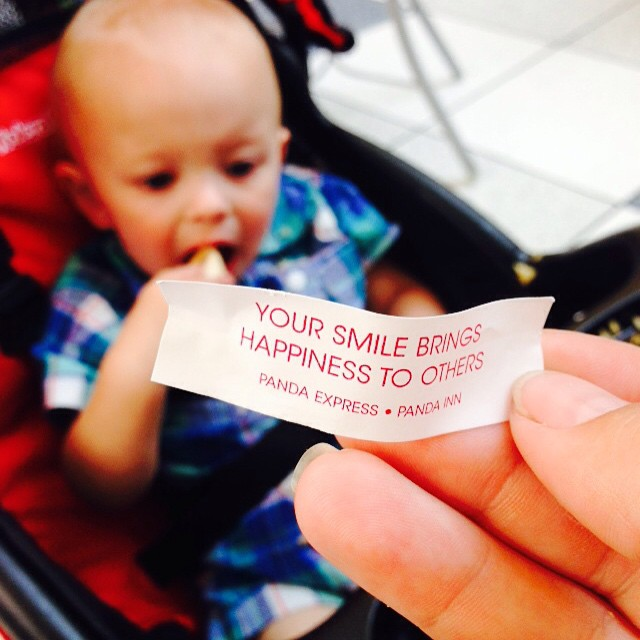 This was my little man's fortune today. #spoton