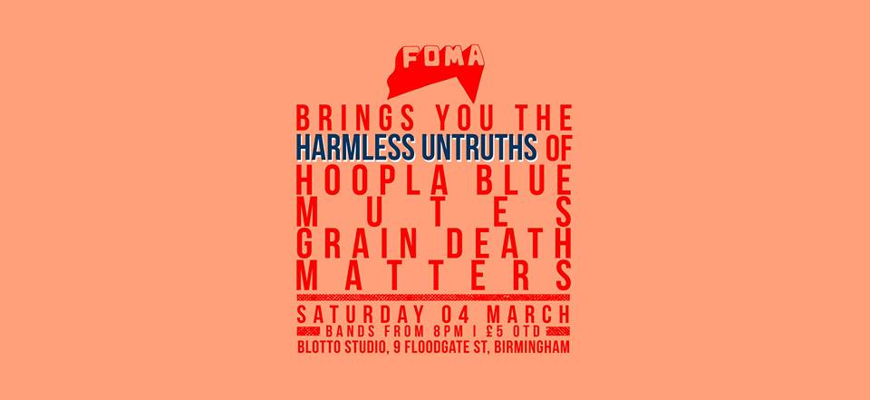 THE GALLERY: Harmless Untruths of… Hoopla Blue, Mutes, Grain Death, Matters @ Blotto Studio 04.03.17