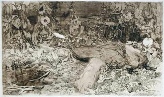 Raped (1907/8, Peasants' War - plate 2) / Käthe Kollwitz