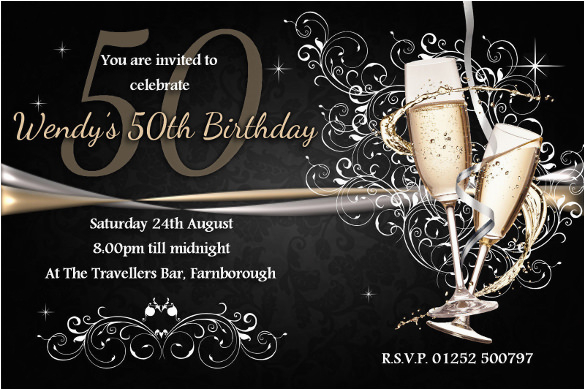 50th Birthday Invitations Free Download BirthdayBuzz
