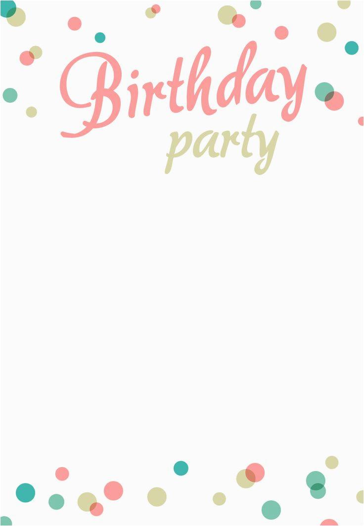 Free Download Birthday Invitation Templates Download Microsoft Word
