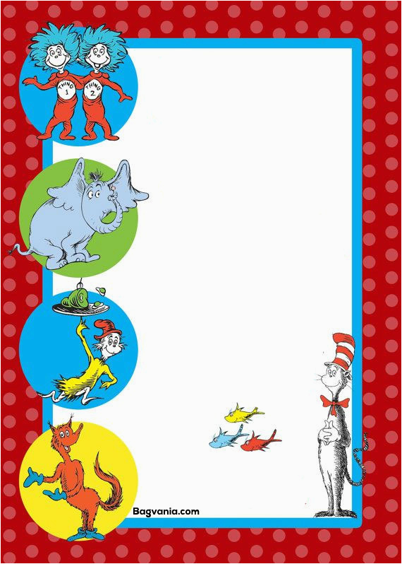 Free Printable Dr Seuss Birthday Invitations Free Printable Dr Seuss