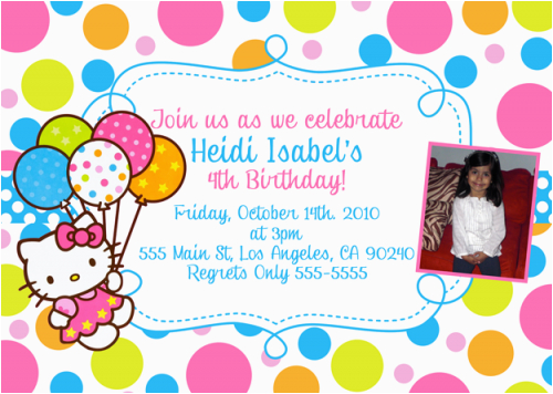 Hello Kitty First Birthday Invitations Free Printable Hello Kitty