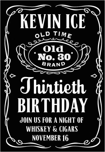Jack Daniels Birthday Invitation Template Free Jack Daniels