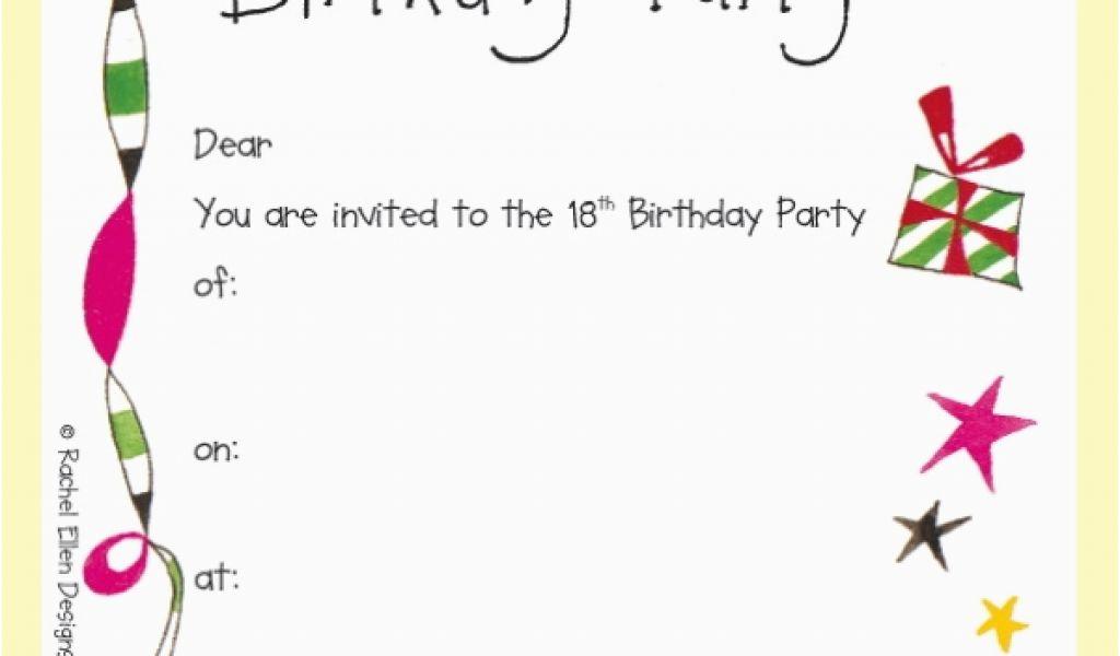18th Birthday Invitation Templates Printable Free 18th Birthday