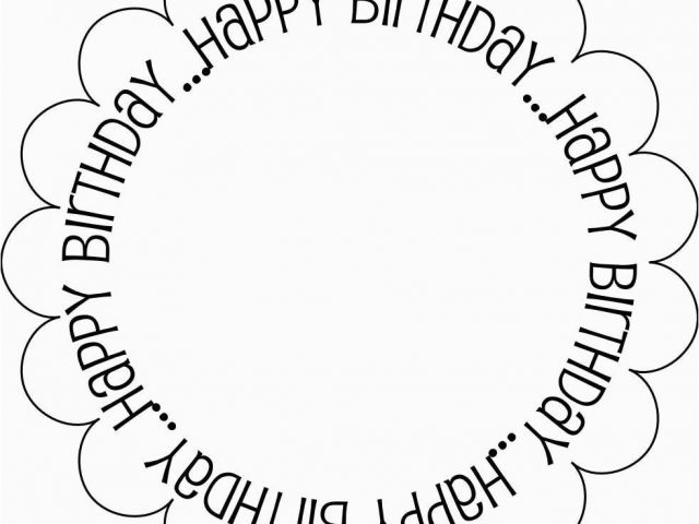 Birthday Card Print Outs 7 Best Images Of Black and White Printable