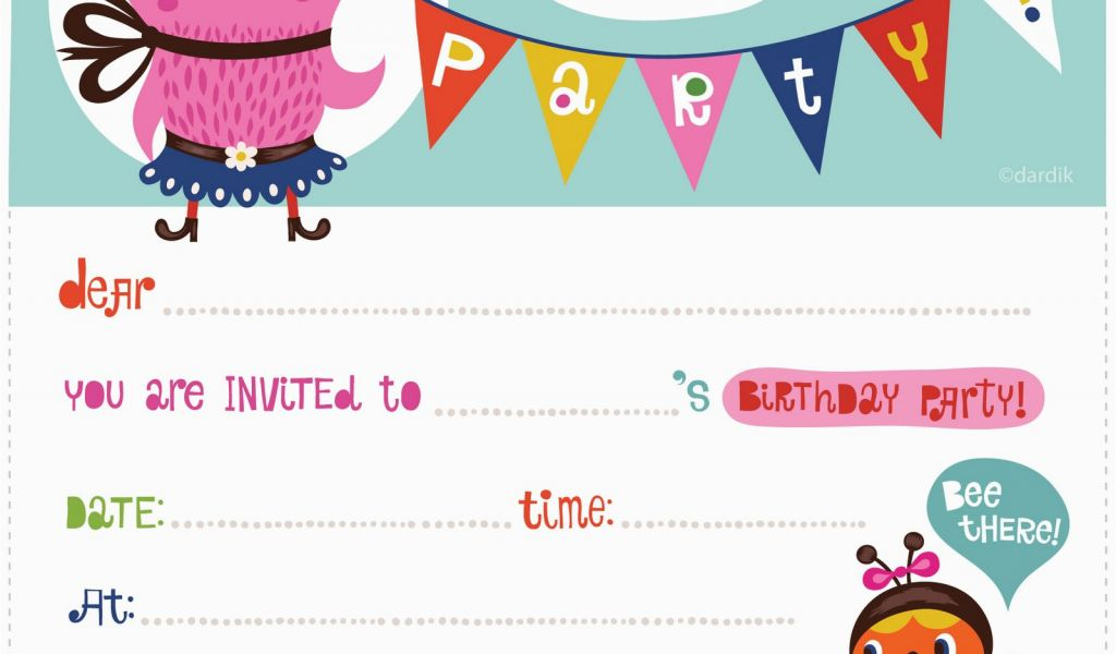 Birthday Invites Free Printable 100 Free Birthday Invitation